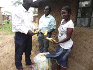 Jennifer selling her boiled corn